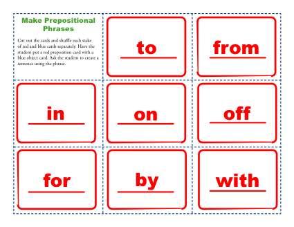 Prepositional Phrase Activty