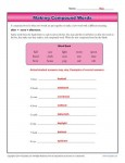 Making Compound Words Worksheet Practice Activity for Students
