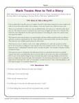 How to Tell a Story - Mark Twain Reading Activity