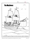 Mayflower Coloring Page Activity