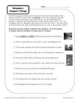 Metaphors Compare Things - Worksheet Practice Activity