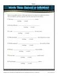 Worksheet Activity - Movie Time: Gerund or Infinitive