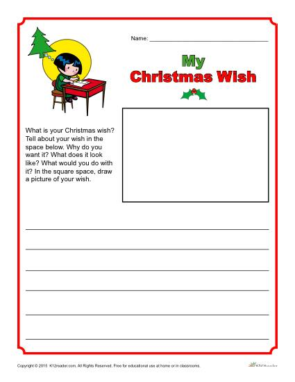 My Christmas Wish Writing Prompt