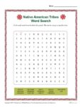 Native American Heritage Month Printable Word Search Activity