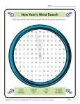 New Year's Word Search