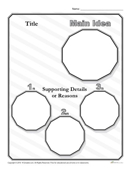 picture relating to Main Idea Graphic Organizer Printable titled Set up the Principal Strategy! Printable Major Notion Organizer