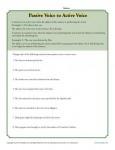Passive Voice to Active Voice Worksheet Activity
