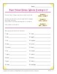 Spelling Rules - Past Tense Verbs that end in Y