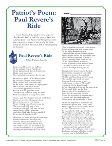 Paul Revere Word Search by Rachele'-s Basic Worksheets   TpT