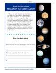 Planets Main Idea Passage