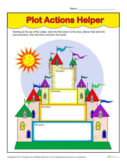 Printable Plot Action Helpers Worksheet