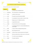 Printable Poetry Vocabulary Match Worksheet
