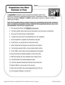 Worksheets Prepositional Phrase Worksheet 5th Grade prepositional phrase worksheet 5th grade delibertad prepositional