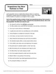 Prepositions Can Show Position in Space - Free, Printable Worksheet Practice Activity