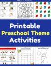 Free Printable Preschool Theme Activities