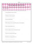 Pronoun Agreement Worksheet Activity - Spot the Error