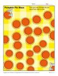 Thanksgiving Worksheets - Pumpkin Maze!