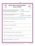 Question Marks Inside or Outside? Worksheet Activity