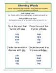 Rhyming Words Vowel Diagraphs Worksheet for Students