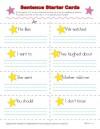 Sentence Starter Cards