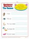 Sentence Starters:  The Senses