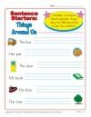 Sentence Starters:  Things Around Us