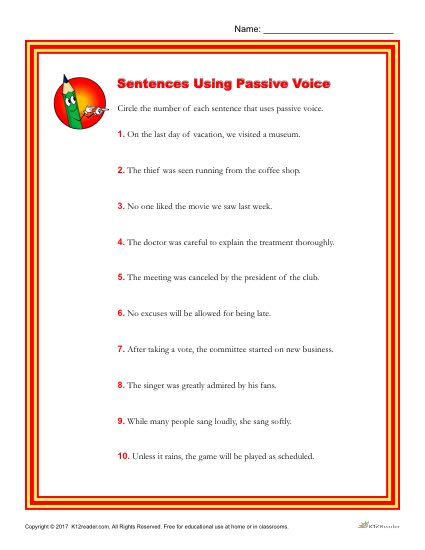 Which of the Following Sentences Use Passive Voice?