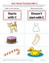Consonant Sort: Words That Start With C