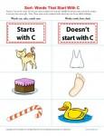 Letter C Consonant Worksheet
