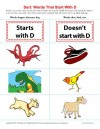 Consonant Sort: Words That Start With D