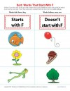 Consonant Sort: Words That Start With F