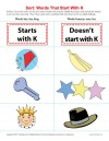 Consonant Sort: Words That Start With K