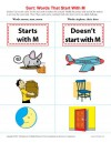 Consonant Sort: Words That Start With M