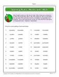 Printable Spelling Rules Worksheet - Words With IBLE