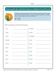 Spelling Rules Worksheet - Add S to Nouns to Make Them Plural