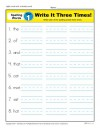First Grade Spelling Words List – Week 1 (List A-1)