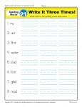 1st Grade Spelling Words Week 21 - K12Reader Spelling Curriculum
