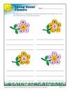 Spring Vowel Flowers