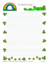 St. Patricks Day Lined Writing Paper