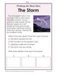 Main Idea and Supporting Details - Passage about Storms