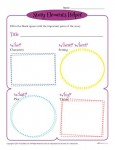 Story Elements Helper! A fun, colorful printable template for students