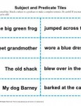 Subject and Predicate Worksheet Activity - Tiles