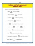 Subject Verb Agreement Worksheet Practice Activity - Pick The Verb