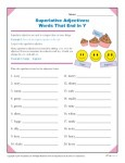 Spelling Rules - Superlative Adjectives that End in Y