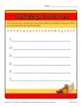 Write a Thanksgiving Acrostic Poem - Printable Activity