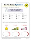 The Five Senses Words Activity: Sight