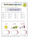 The Five Senses Words Activity: Sight