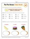 The Five Senses Words Activity: Taste