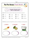 The Five Senses Printable Worksheet Activity for Kindergarten and First Grade - Touch Words
