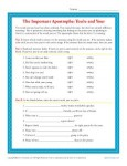 The Important Apostrophe - Your and You're - Printable Practice Activity